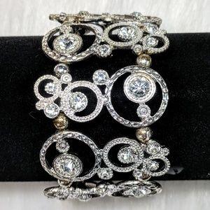 Jewelry - Contemporary Rhinestone Statement Cuff